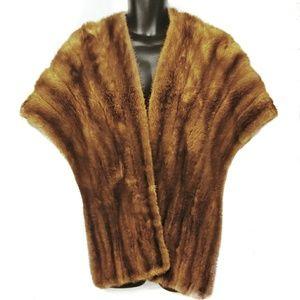 Vintage Mink Fur Stole - super soft real fur!